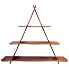 Organically Shaped Teak Shelf from the School of Peder Moos