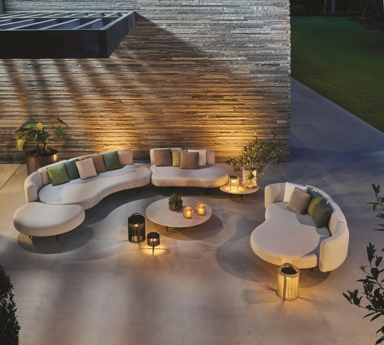 Powder-Coated Organix Outdoor Louge Set Design by Kris Van Puyvelde For Sale