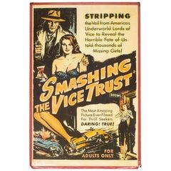 """Orginal """"Sexplotation"""" Movie Poster Card, circa 1940"""