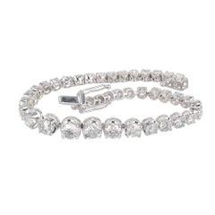 Orianne 8.00 Carat Diamond Graduated White Gold Bracelet