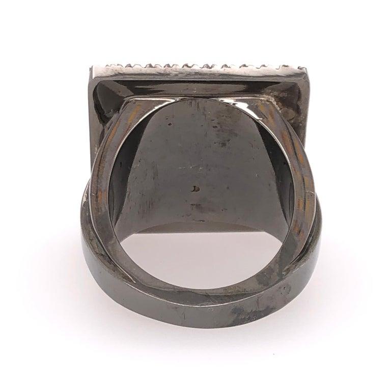 Orianne Collins Black Onyx Black Diamond Black Gold Gents Ring In New Condition In Dallas, TX