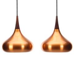 Orient Minor Copper Pendant Pair by Jo Hammerborg 1963 Fog & Morup