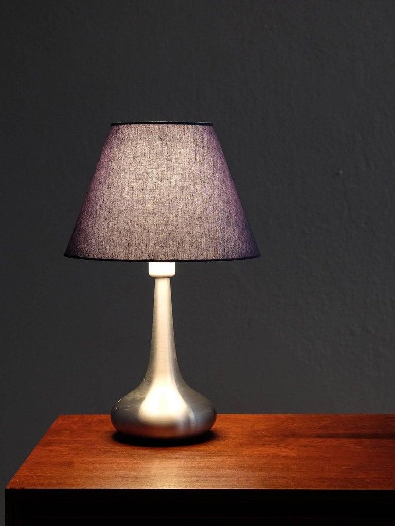 Aluminum Orient Table Lamp by Jo Hammerborg for Fog & Mørup, 1960s For Sale