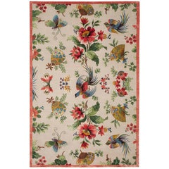 Oriental Birds Hand-Knotted 10x8 Rug in Wool and Silk by Paul Smith