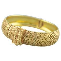 Oriental Bracelet 18 Karat Yellow Gold, 1980s
