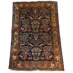 Oriental Carpet, Handwoven 19th Century