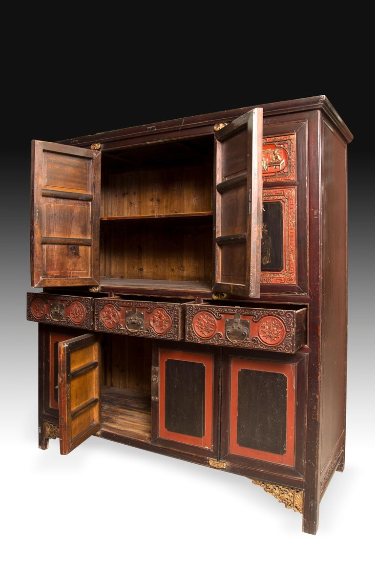 Asian Oriental Cupboard, Possibly China, 19th Century For Sale