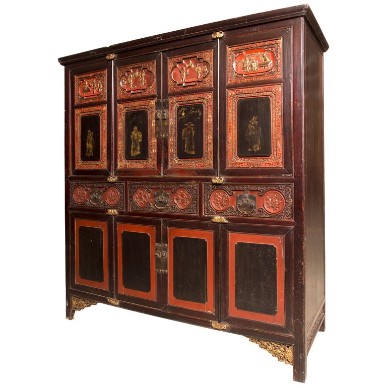 Oriental Cupboard, Possibly China, 19th Century For Sale