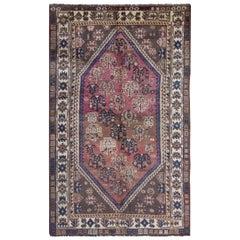 Oriental Handmade Carpet, Vintage Paisley Design Tribal Rug
