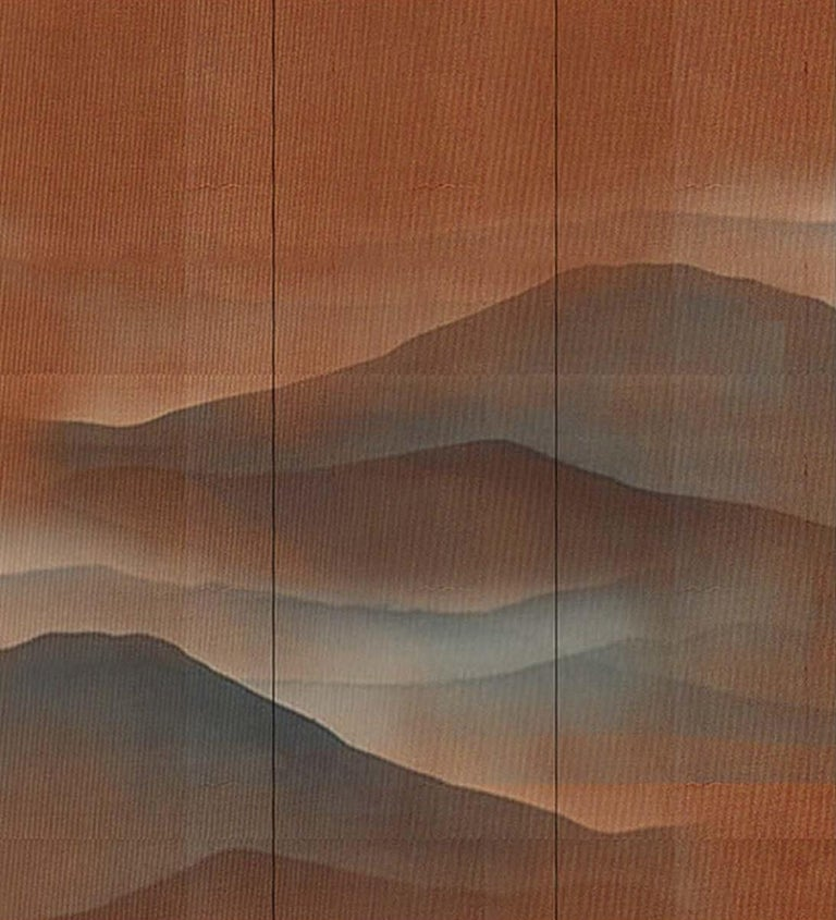 Oriental Mountains Wallpaper In New Condition For Sale In Milan, IT