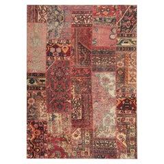 Oriental Patchwork Carpet Wool Area Rug Traditional Handmade