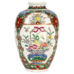 Oriental Possibly Samson Finely Hand Decorated Porcelain Vase