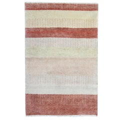 Oriental Rug, Handmade Carpet, Contemporary Striped Rug Modern Living Room Rugs