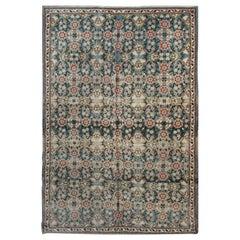 Oriental Rug Handmade Carpet Vintage Rugs Traditional Turkish Rugs, Oushak Rugs