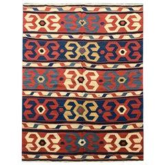 Oriental Rug Kilim Traditional Antique Turkish Kilim Rug
