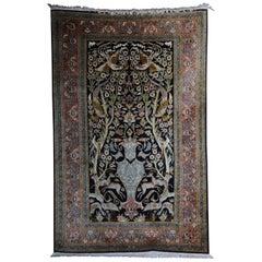 Oriental Rug or Carpet, Silk Paradise Garden 20th Century