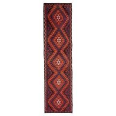 Oriental Rug Runner Red Kilim Runner Handmade Carpet Runner, Stair Runner Rugs