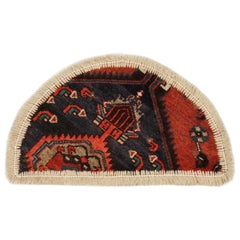 Oriental Rug Semicircle for Interior Door Way- Entrance way Handmade Carpet Mat