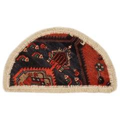 Oriental Rug Semicircle for Interior Door Way- Entrance way Handmade Carpet Mat