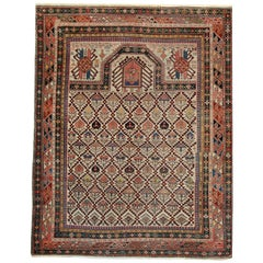 Oriental Rugs, Antique Caucasian Handmade Carpet from Shirvan
