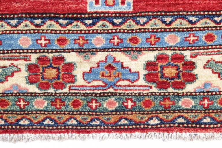 Caucasian Oriental Rugs, Handmade Carpet Red Kazak Rugs for Sale For Sale