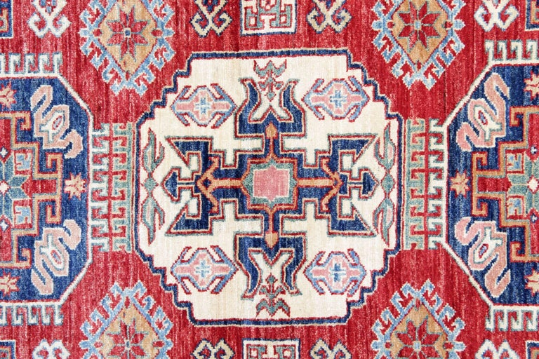 Vegetable Dyed Oriental Rugs, Handmade Carpet Red Kazak Rugs for Sale For Sale