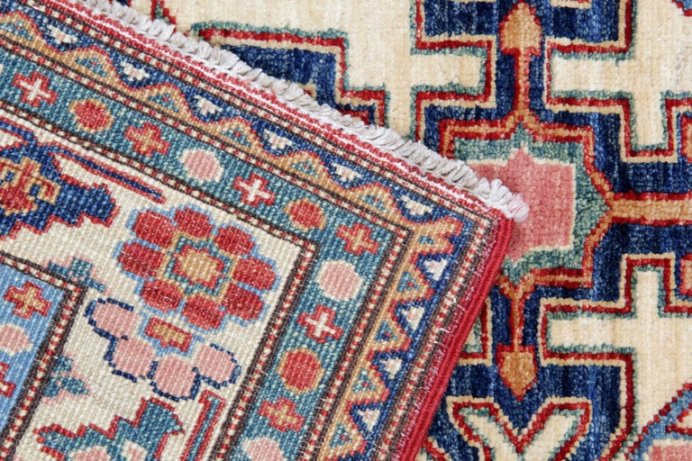 Late 20th Century Oriental Rugs, Handmade Carpet Red Kazak Rugs for Sale For Sale
