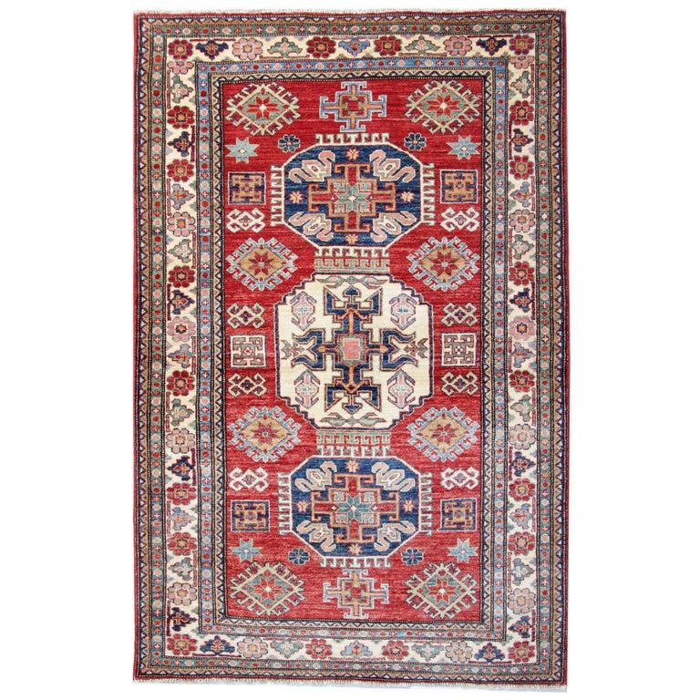 Oriental Rugs, Handmade Carpet Red Kazak Rugs for Sale For Sale