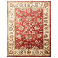 Oriental Rugs, Red Living Room Rugs Handmade Carpet Ziegler Design Rug