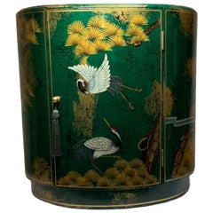 Oriental Style Hand Painted Oval Cabinet Side Board/Table