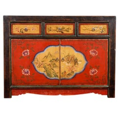 Oriental Style Paint Decorated and Lacquered Chest
