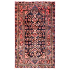 Oriental Wool Area Rug, Handmade Carpet Traditional Vintage Rug