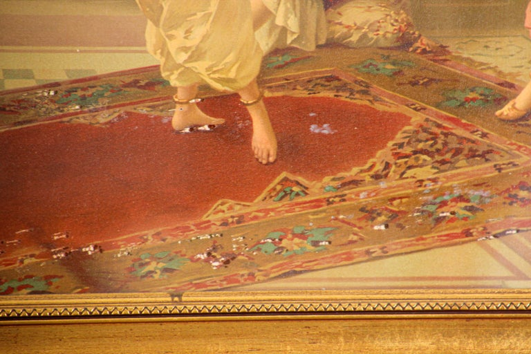 Orientalist Gravure Scene of Turkish Women Dancing in the Harem, Luigi Crosio For Sale 3