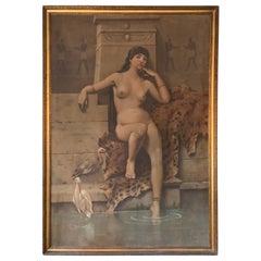 Orientalist Nude Egyptian Scene, circa 1840-1860