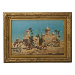 Orientalist Oil on Canvas Painting