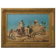 Orientalist Oil on Canvas Painting