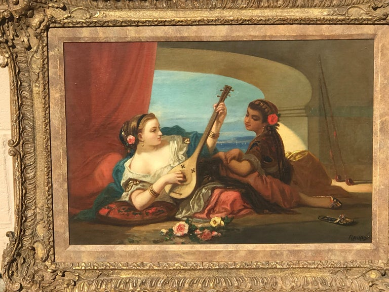Orientalist Oil on Canvas, Signed Raupp For Sale 4