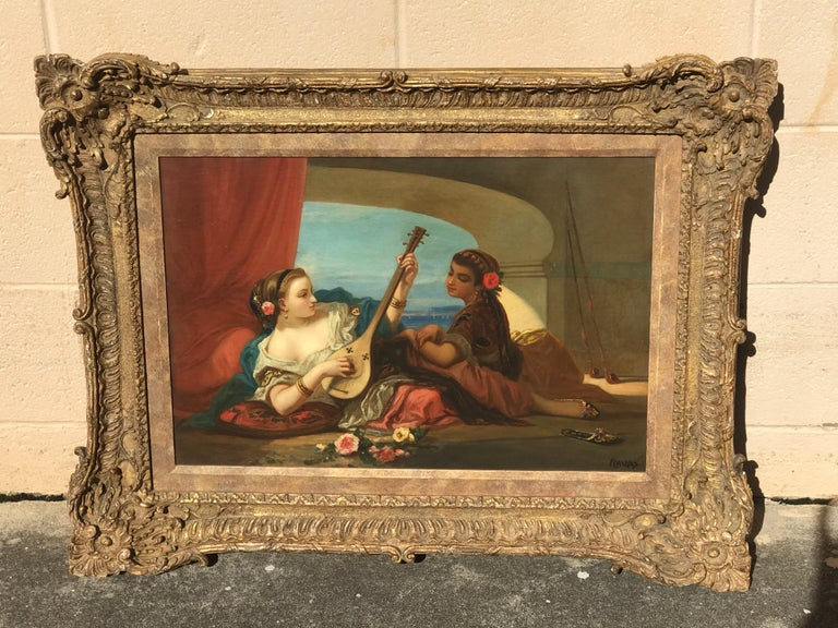 Orientalist Oil on Canvas, Signed Raupp For Sale 6