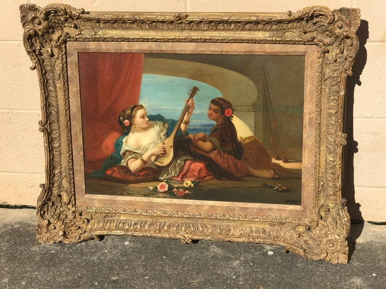Orientalist oil on canvas, signed lower right