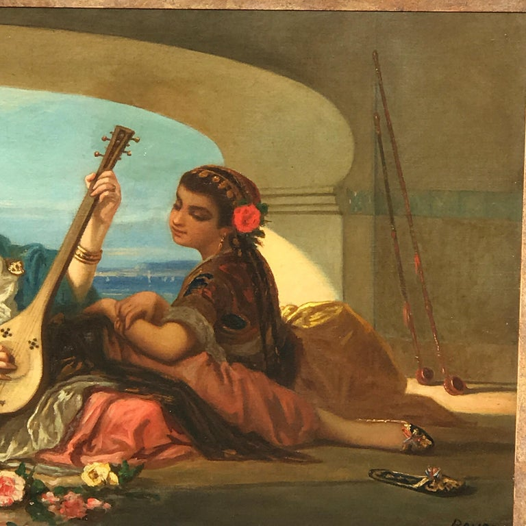 19th Century Orientalist Oil on Canvas, Signed Raupp For Sale