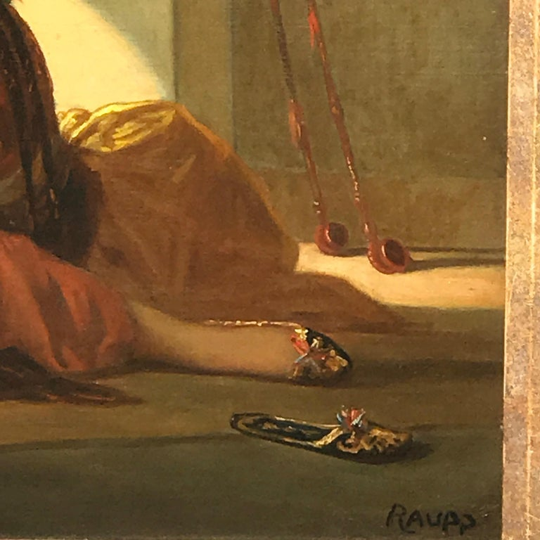Orientalist Oil on Canvas, Signed Raupp For Sale 1