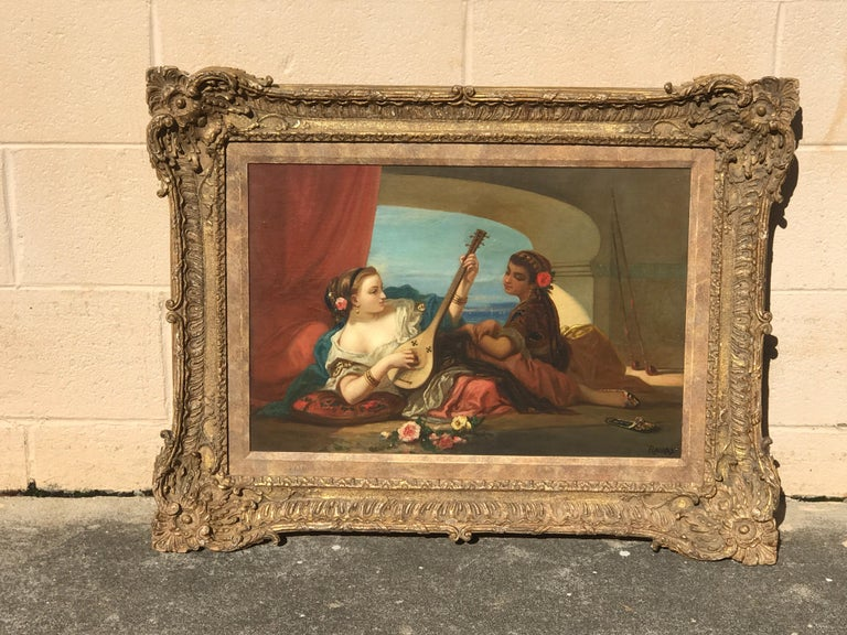 Orientalist Oil on Canvas, Signed Raupp For Sale 3
