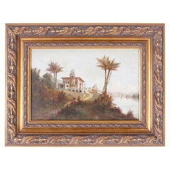 Orientalist Oil Painting on Canvas of an Indian Landscape