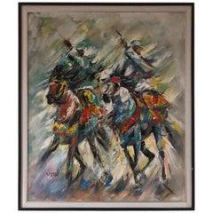 Orientalist Painting Signed Zine