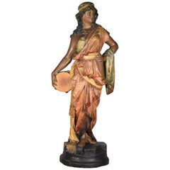 Orientalist Sculpture, Polychromed Plaster or Scagliola, 19th Century