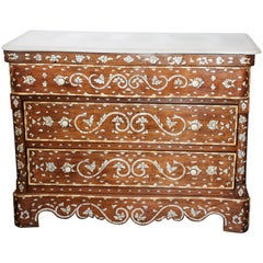 Orientalist Syrian Chest of Drawers with Mother of Pearl Inlay