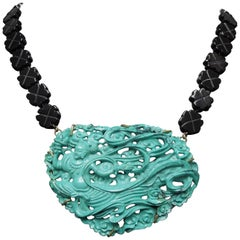 Orientalist Turquoise Amulet Necklace