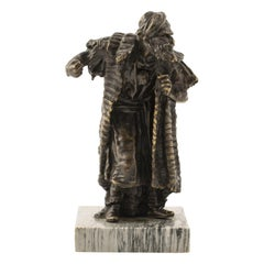 Orientalist Vienna Bronze Sculpture by Franz Xavier Bergmann of Arab Merchant
