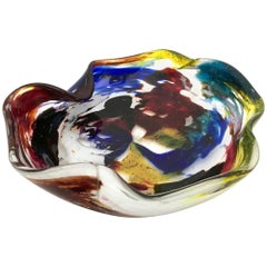 """""""Oriente"""" Ashtray or Bowl by Dino Martens for Aureliano Toso, Italy, 1950s"""