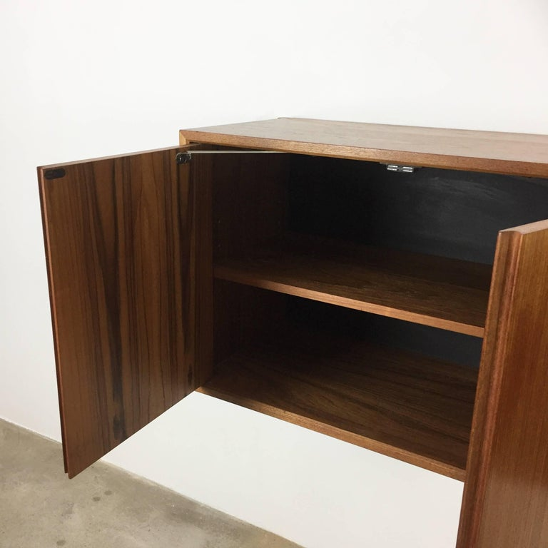 Original 1960s Floating Modular Teak Wall Unit by Poul Cadovius for Cado Denmark For Sale 10